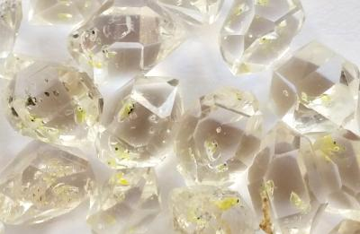 Golden Enhydro Herkimer Diamond Quartz ~ A Grade x 4 ~  SPECIAL OFFER!
