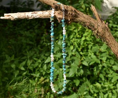 Natural Turquoise & Pearl Beads