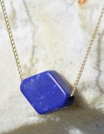 Handmade Lapis Gold Necklace