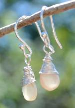 Handmade Moonstone Earrings