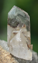 Himalayan Quartz with Green Chlorite Phantoms