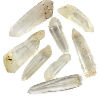 Water Structuring Set - 8 Lemurian Quartz Crystals