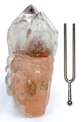 Quartz is a frequency tuning fork