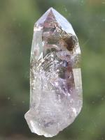 Brandberg Quartz Amethyst Flame Self-Healed Negative Manifestation Enhydro