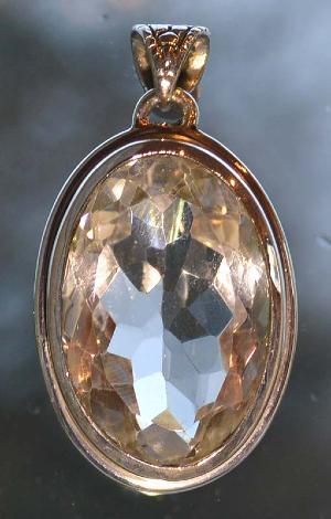 Faceted Quartz Silver Pendant