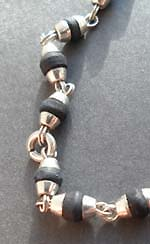 Silver Capped Black Tulasi Beads