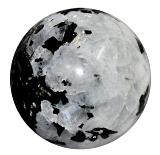 Moonstone & Black Tourmaline Sphere - SPECIAL OFFER