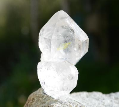 Golden Enhydro Herkimer Diamond Rainbow Quartz