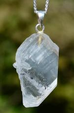 Faden Quartz Tabby Pendant with Inclusions
