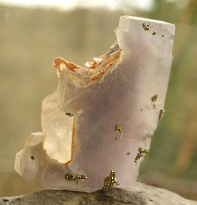 Fluorite Phantom with Quartz and Pyrite