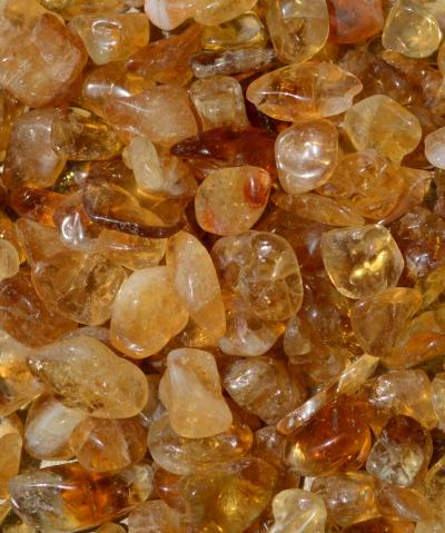 Tumbled Natural Madeira Citrine - Small - SPECIAL OFFER