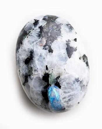 Moonstone Tumble Stone & Black Tourmaline