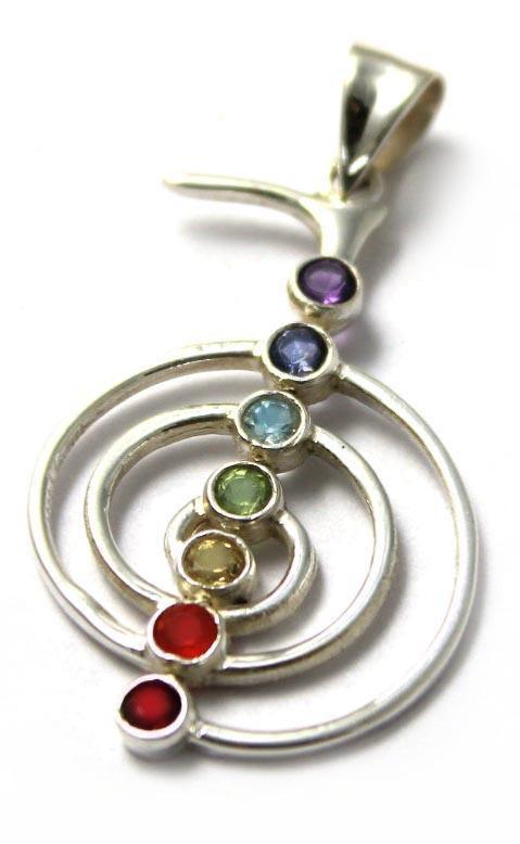 7 chakra stones reiki chakra pendant mozeypictures Choice Image