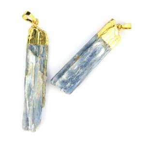 Blue Kyanite in 24K Gold Plated Copper